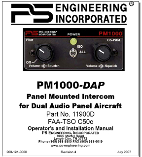 PM1000-DAP Intercom Manual