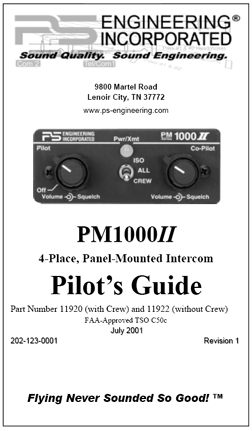 PM1000II Intercom Manual