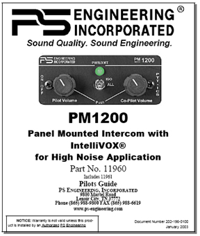 PM1200 Intercom Manual