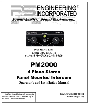 PM2000 Intercom Manual