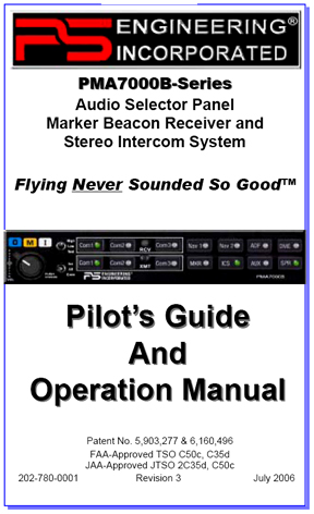 PMA7000B Audio Panel Manual