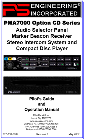 PMA7000CD Audio Panel/CD Manual