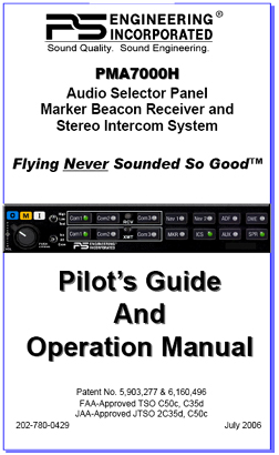 PMA7000H Audio Panel Manual