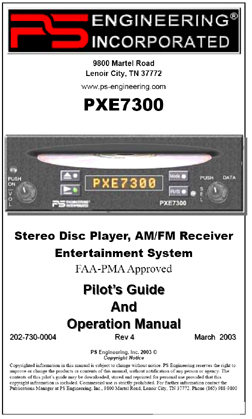 PXE7300 Intercom-CD/MP3 player Manual